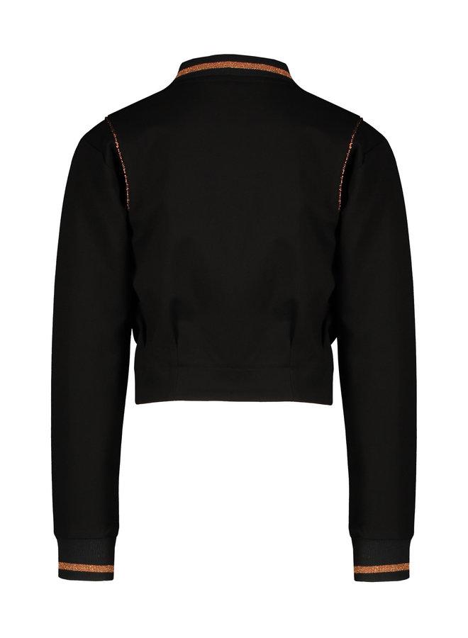 NoNo - Dobby Bomber Indoor Zip Cardigan - Jet Black