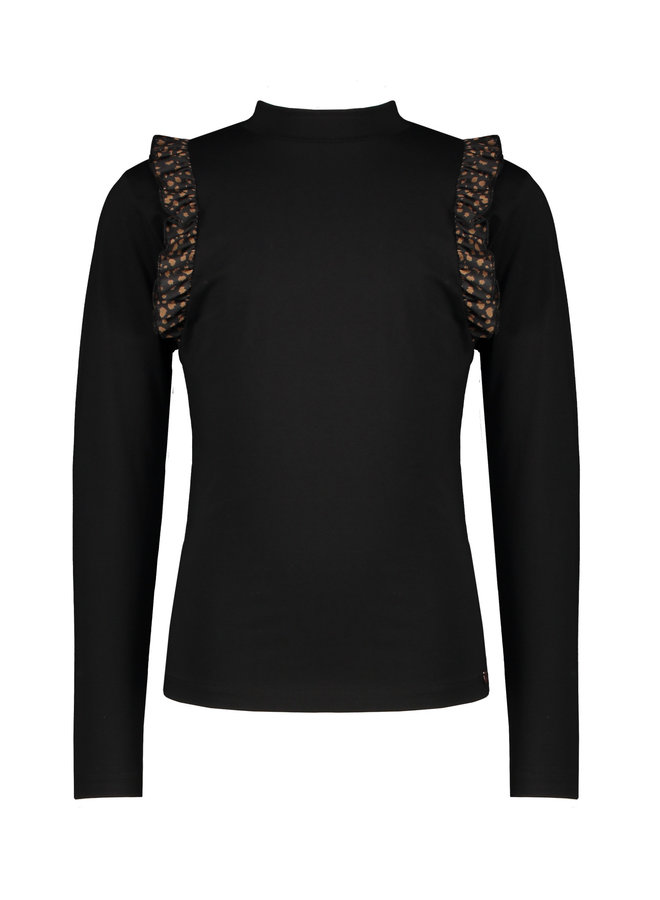 NoNo - Kim Longsleeve Turtle Neck Shirt - Jet Black