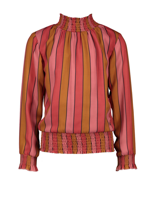 NoNo - Tipi Recyled Blouse With Smocking - Ruby