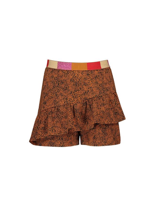 NoNo - Suby AOP Sweat Skirt/Short - Caramel