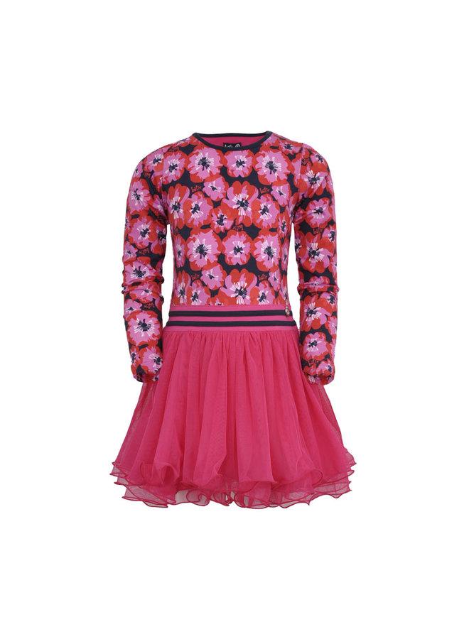 LoFff - Dancing Dress Mila - Blue Poppy Flower