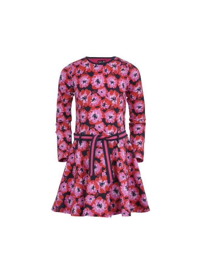 LoFff - Loffely Dress Lotte - Blue Poppy Flower