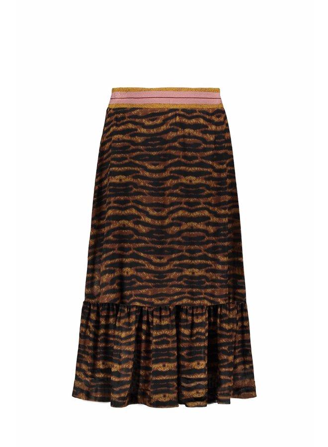 Like Flo - AO Mesh Maxi Skirt - Camel