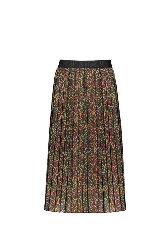 Nobell' - Noel Maxi Pleated Skirt - Army Green