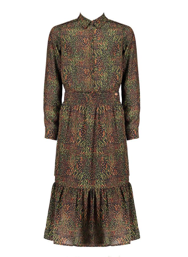 Nobell' - Mowgli Maxi Dress With Smocked Waist - Army Green