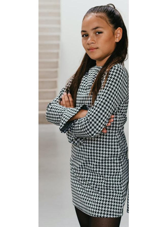 Miss-T - Dress Kiara - PDP Black/White