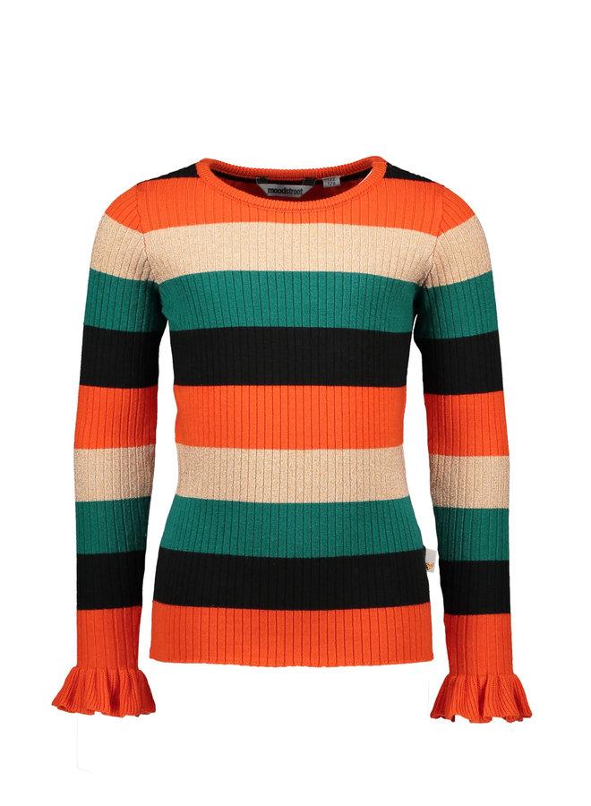 Moodstreet - Striped Knit - Orange