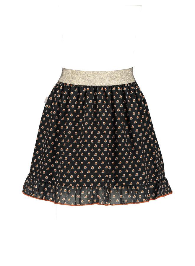Moodstreet - Print Skirt - Black