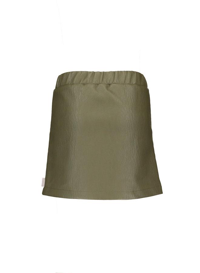 Moodstreet - PU Skirt - Khaki