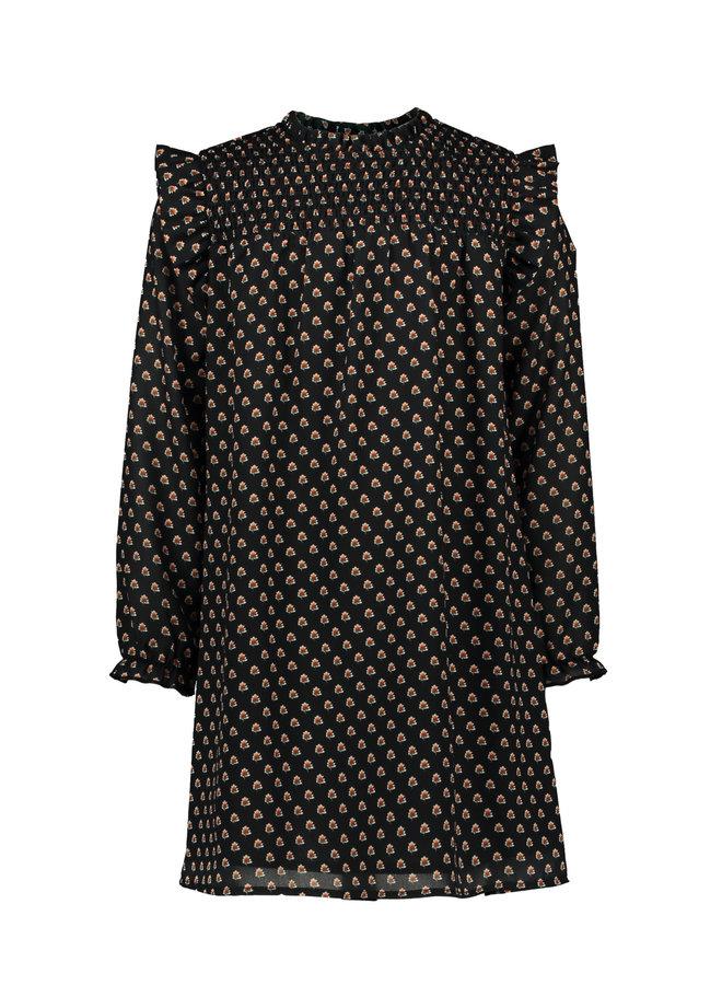 Moodstreet - Print Dress - Black