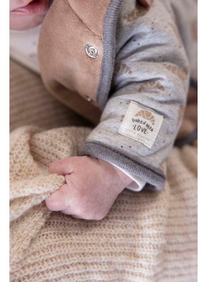 Feetje - Omkeerbaar Jasje Met Capuchon Grijs Melange - Little Croissant