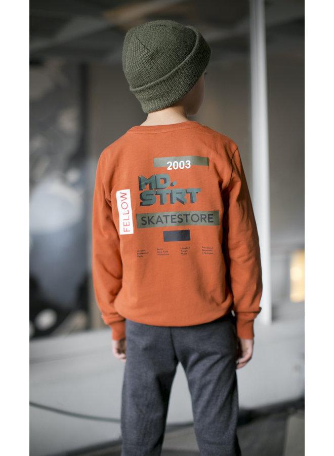Moodstreet - Sweater Backprint - Rust