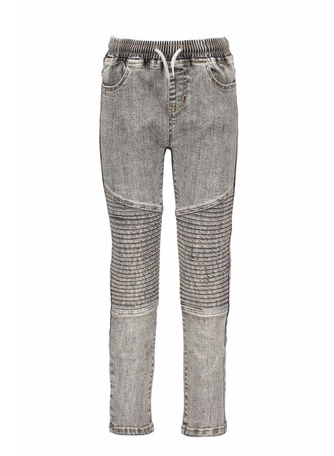 B.Nosy - Denim Pants With Folded Knee Parts - You Denim