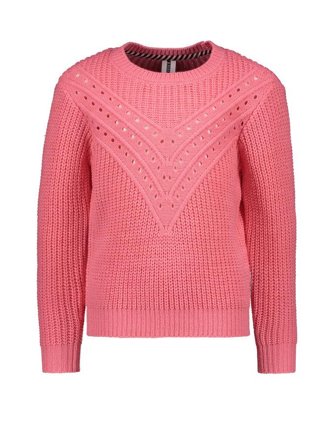 B.Nosy - Heavy Knit Ajour Sweater - Confetti