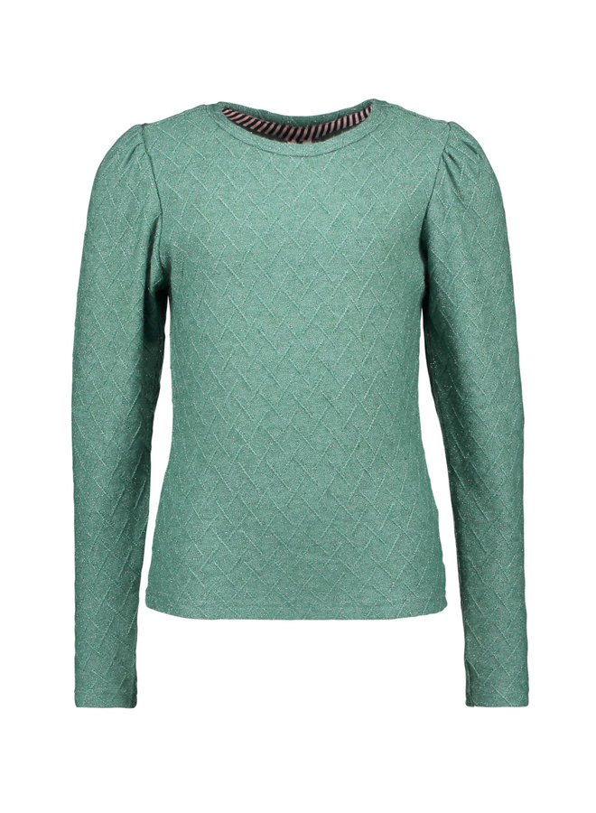 B.Nosy - Knitted Shirt With Small Stripe Details - Cellery Green
