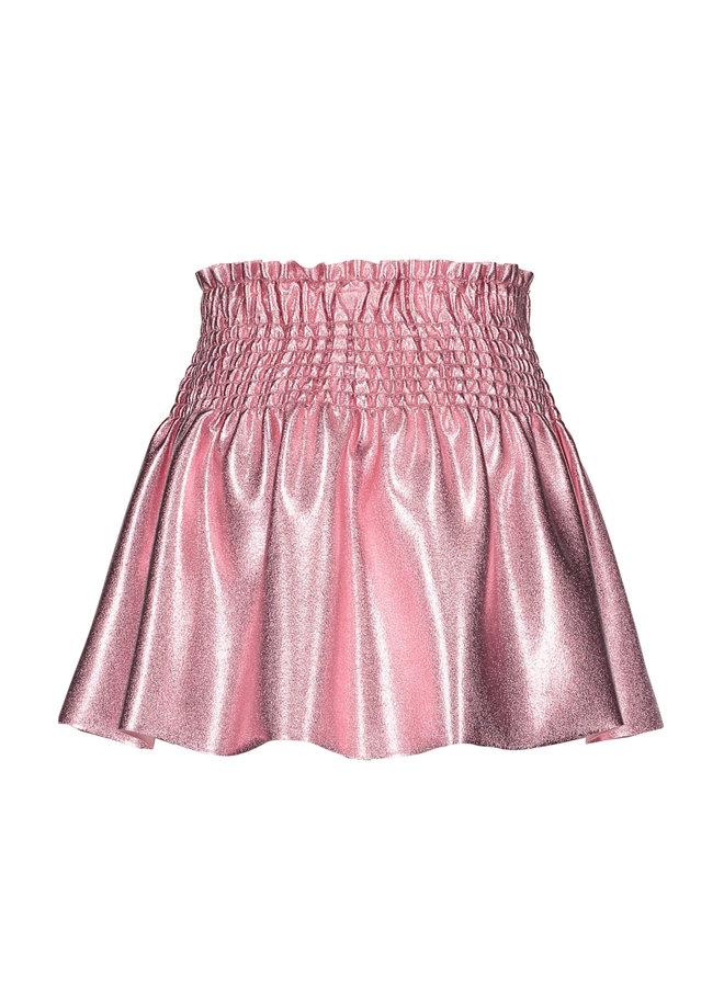 B.Nosy - Coated Skirt With Smocked Waistband - Confetti