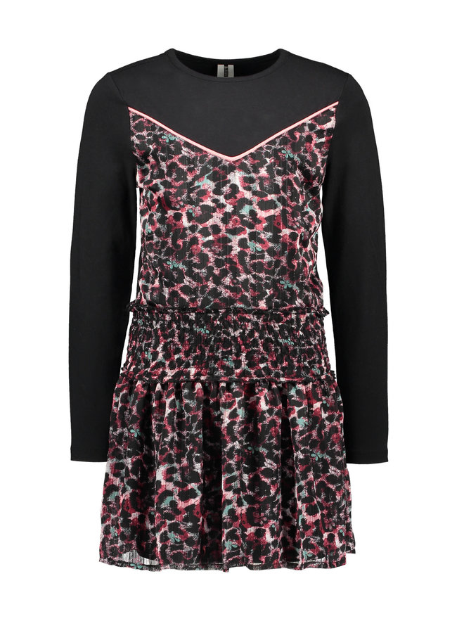 B.Nosy - Dress With Top Part Knitting And Skirt Part Woven - Brushed AO