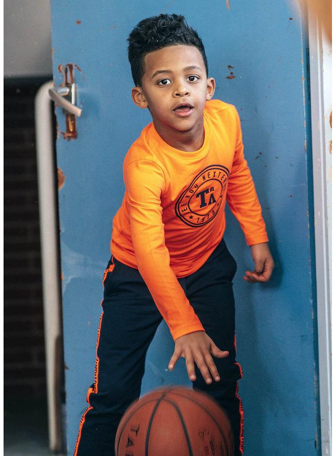 Tygo & Vito -  Longsleeve Round Logo Print Neon - Shocking Orange