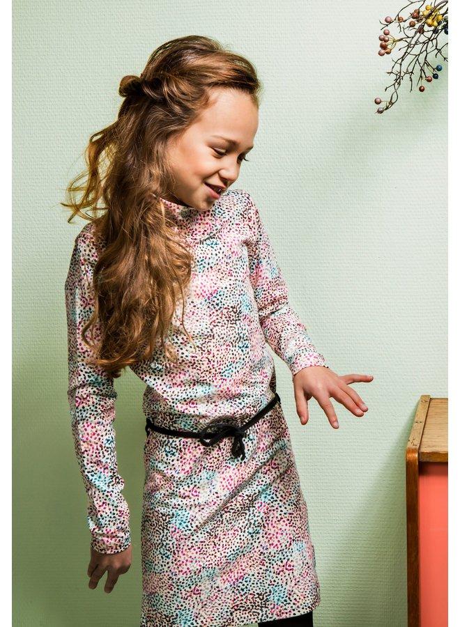 B.Nosy - Multi Spots AO Dress With Contrast Belt - You Spots