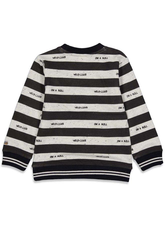 Sturdy - Sweater Streep Zwart - On A Roll