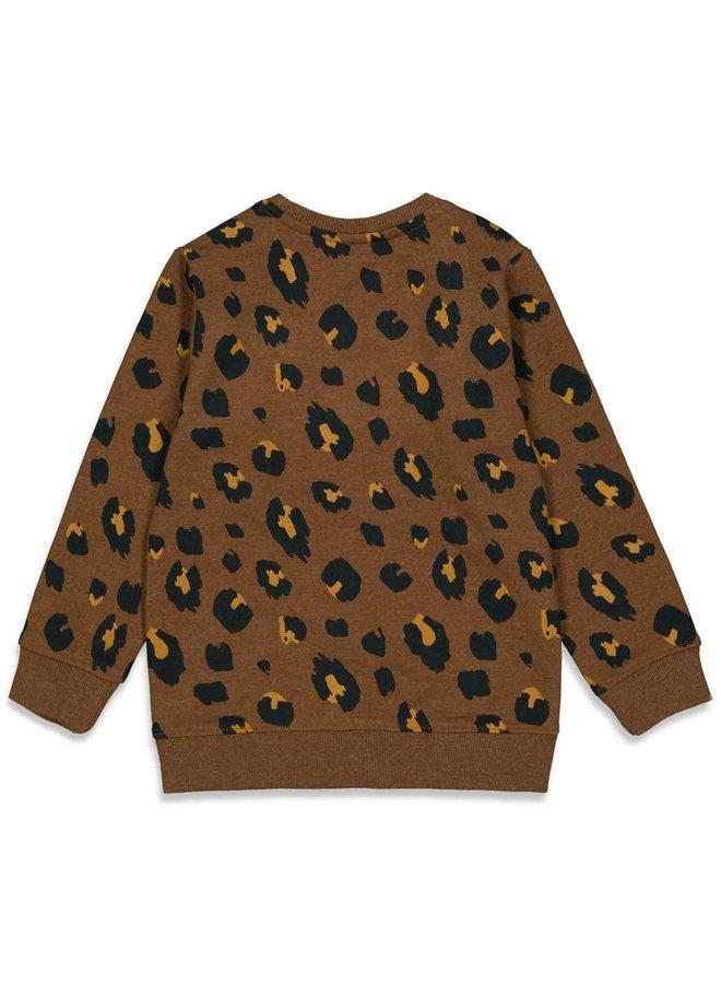 Sturdy - Sweater AOP Bruin - On A Roll