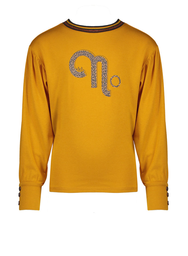 NoNo - Kisou Shirt With Fancy Puffy Sleeve And No Artwork - Saffron