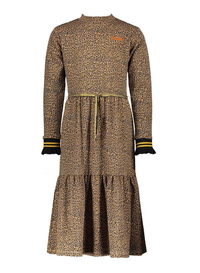 NoNo - Mirthy Maxi Leopard Jersey Dress - Animal