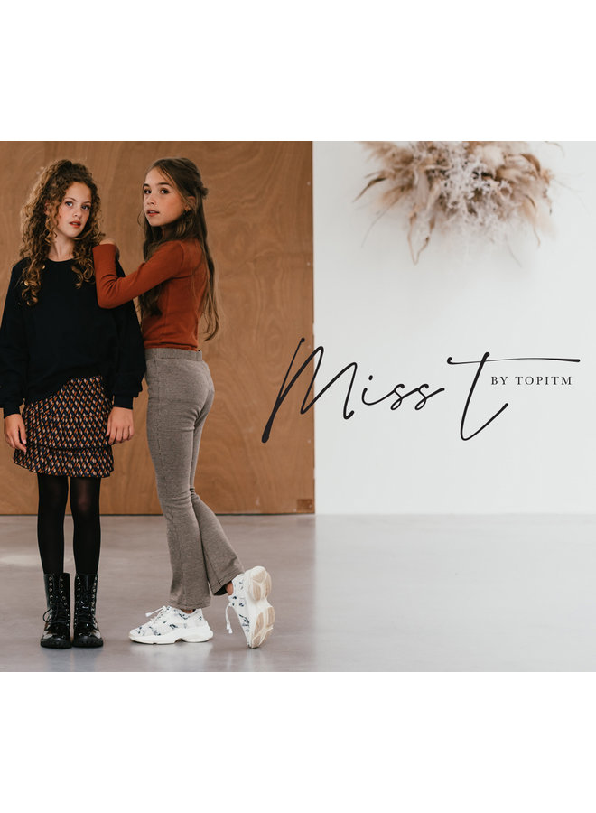 Miss-T - Flare Donna - Brown/Vanillia