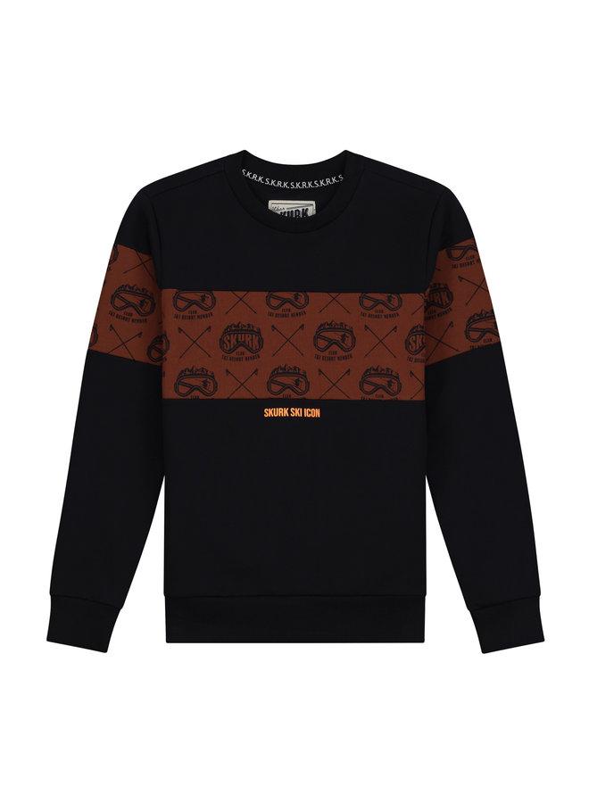 Skurk - Sweater Seppe - Navy cognac