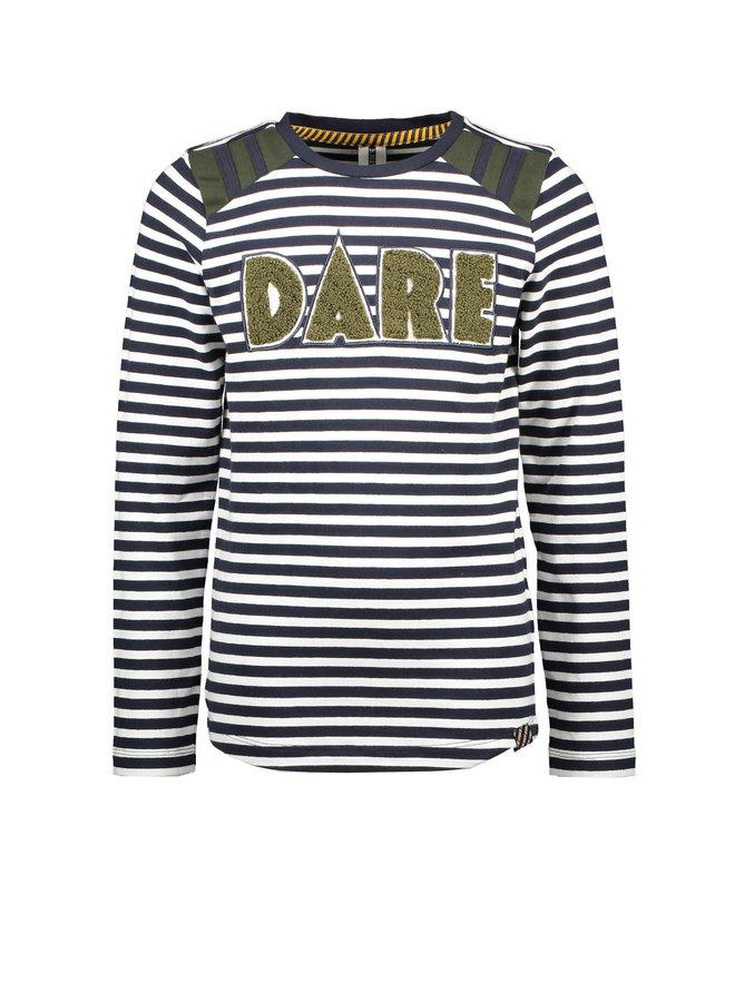 B.Nosy - YDS Shirt With Frotte Artwork - Underc. White & Blue Stripe