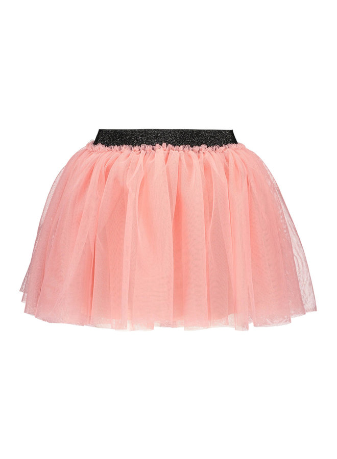 B.Nosy - Solid Mesh Skirt - Punch Pink