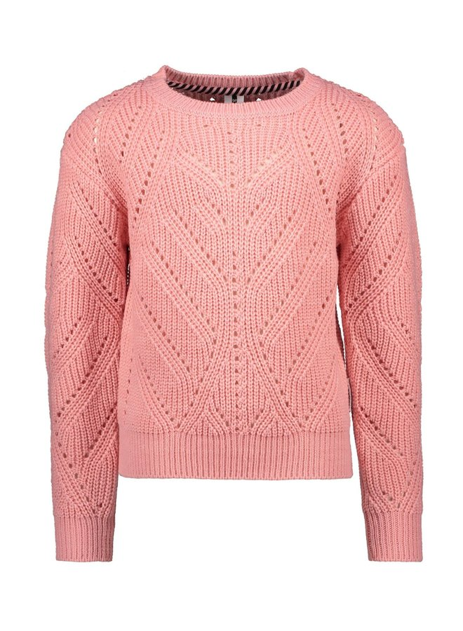 B.Nosy - Heavy Knitted Cardigan - Punch Pink