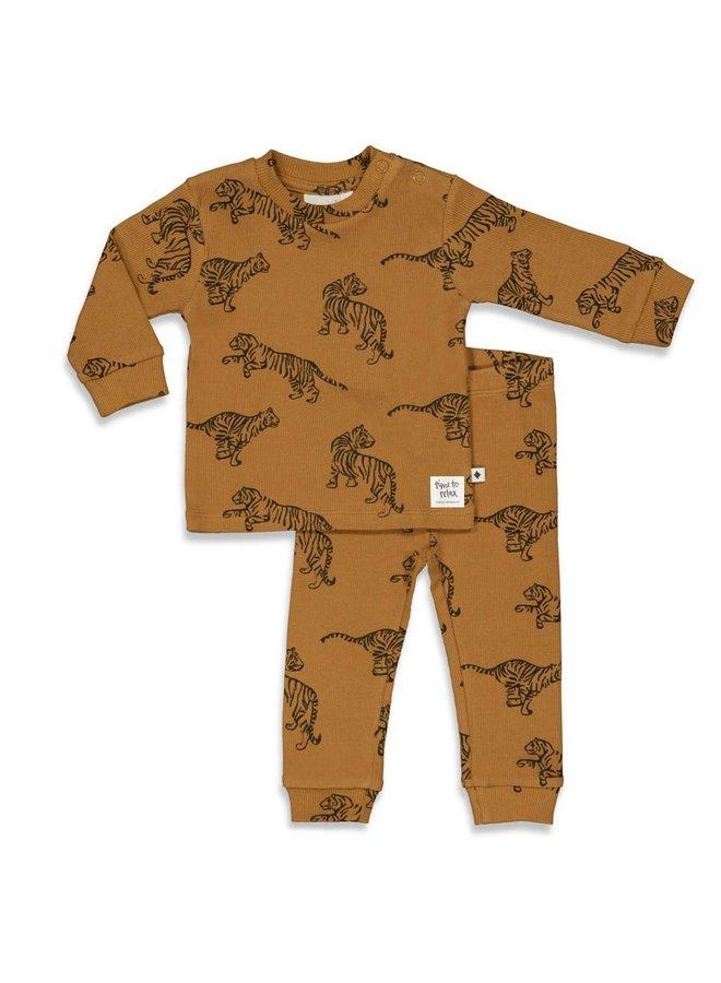 Feetje - Pyjama Tiger Terry Camel - Premium Sleepwear