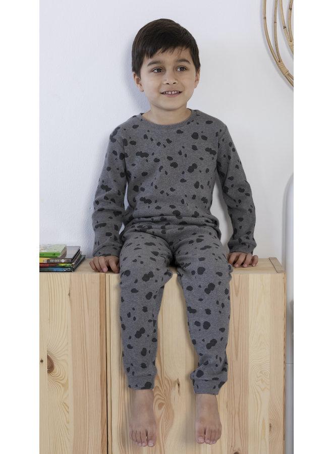 Feetje - Pyjama Spotted Sam Grijs Melange - Premium Sleepwear