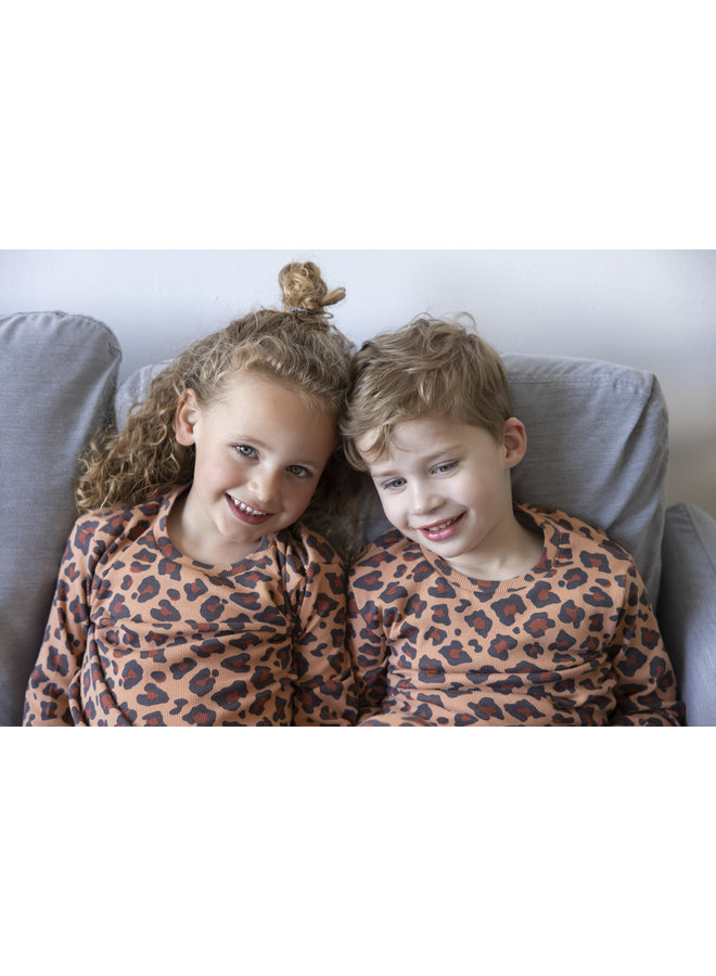 Feetje - Pyjama Leopard Lee Hazelnoot - Premium Sleepwear