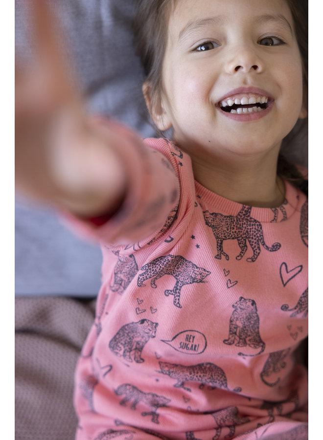 Feetje - Pyjama Roarr Ruby Roze - Premium Sleepwear