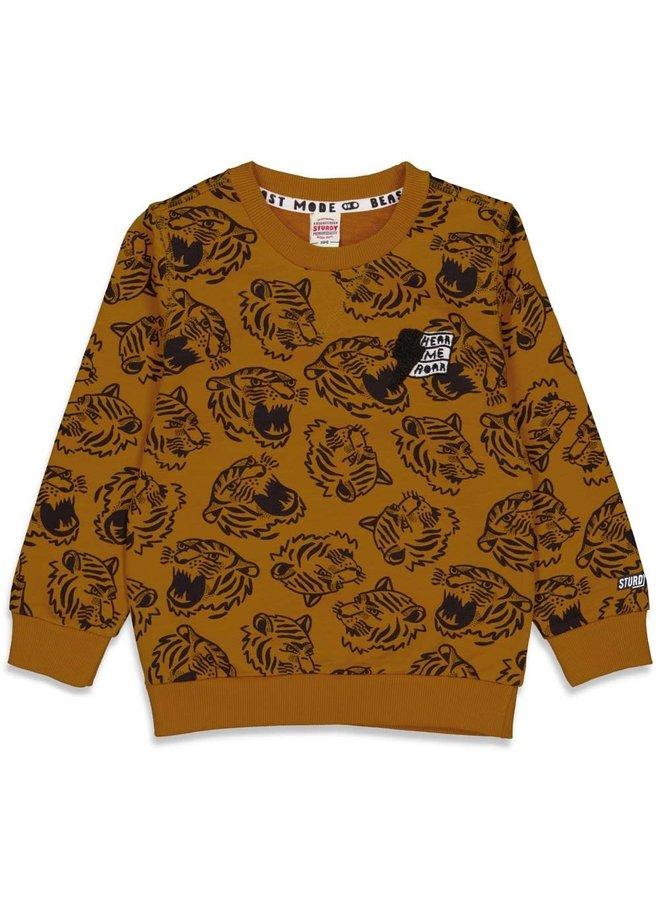 Sturdy - Sweater AOP Okergeel - Wild Things