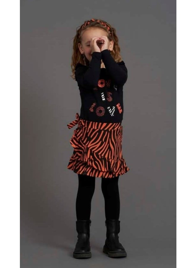 PRE-ORDER - Jubel - Longsleeve Zwart - Blushing Zebra
