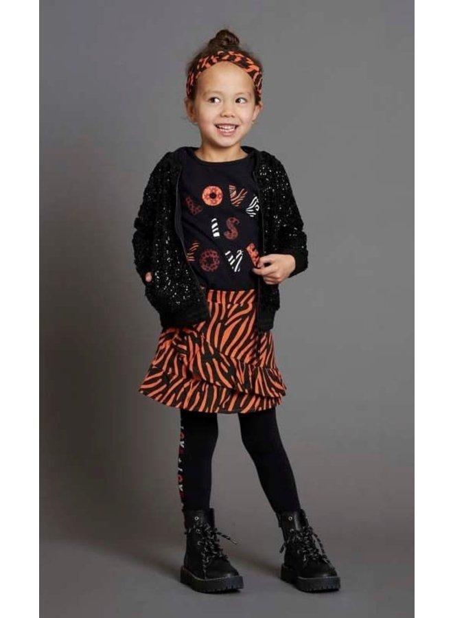 Jubel - Pailetten Vest Zwart - Blushing Zebra