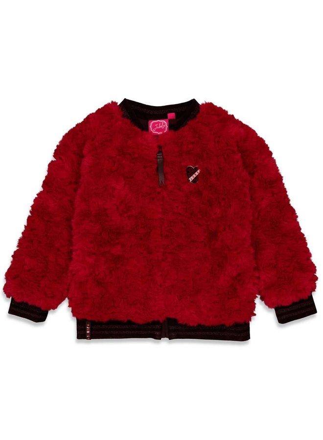 Jubel - Teddy Vest Bordeaux - Blushing Zebra
