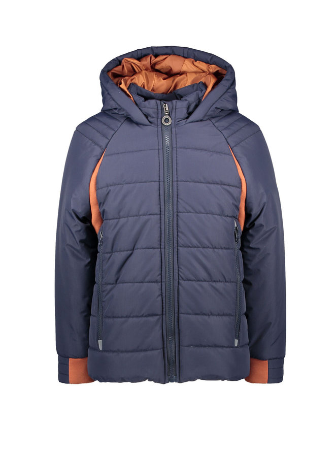 B.Nosy - Ribstop Jacket With Contrast - Oxford Blue