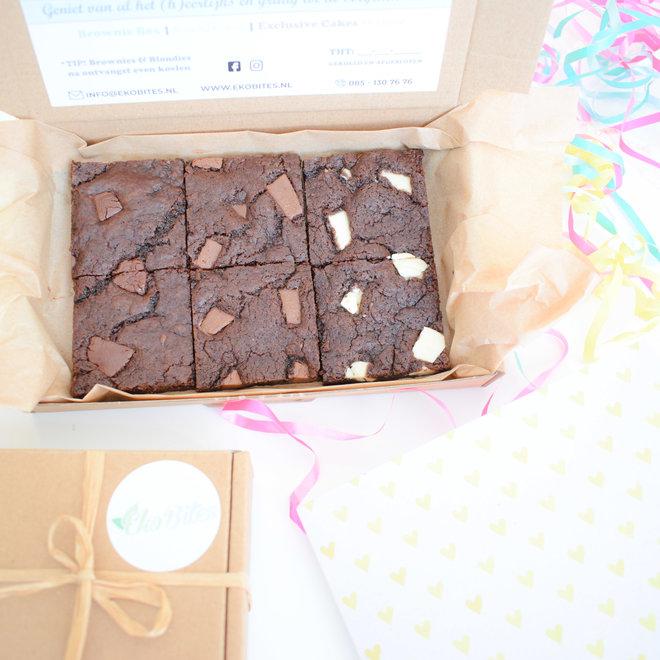Bio Vegan Double Chocolate Cookie Bars Party Box