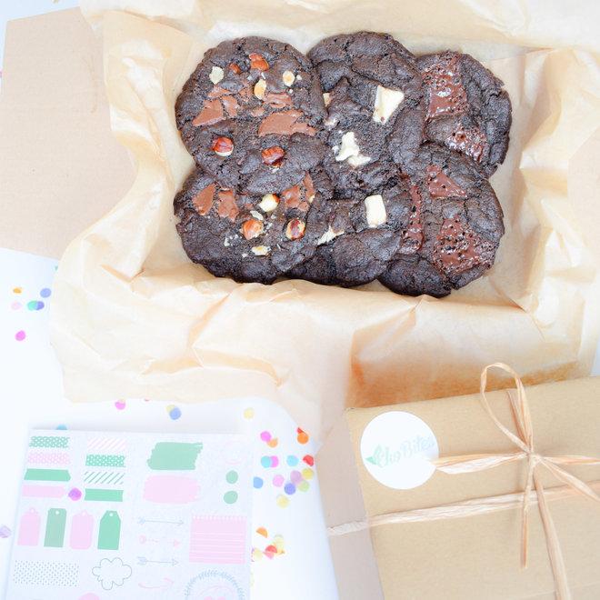 Bio Vegan Double Chocolate Cookies Party Box