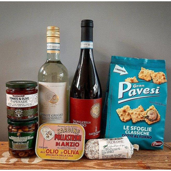 Italiaanse wijnen en delicatesse