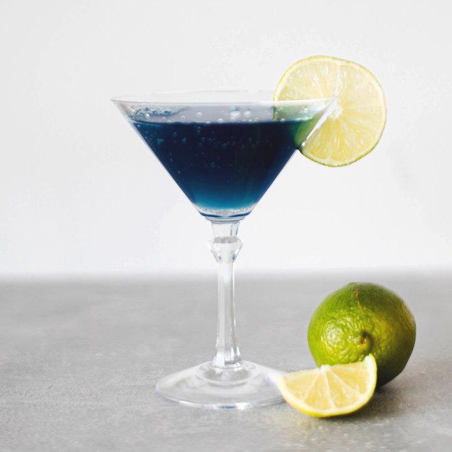 2 Bluetini Cocktails  (doe-het-zelf)