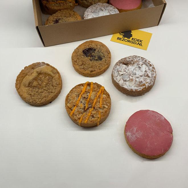 Fruitige Koekbox - 10 stuks (koek per post)