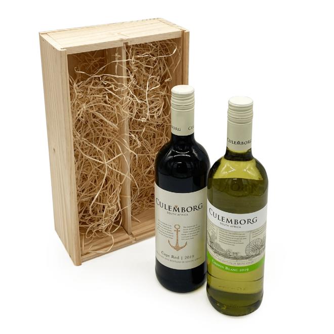 Culemborg's Wijn Duo - In Houten Geschenkverpakking