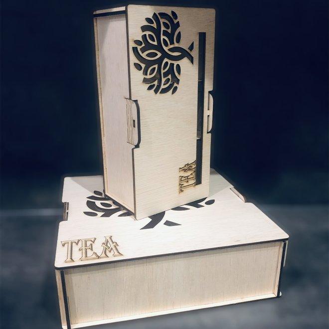 Thee Proeverij Box (mogelijkheid tot boodschap laseren)