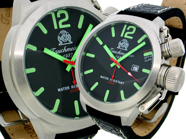 Tauchmeister Tauchmeister military retro divers watch alarm T0164