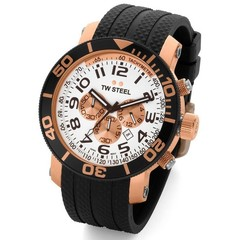 TW Steel divers watch 45mm rose gold plated TW76